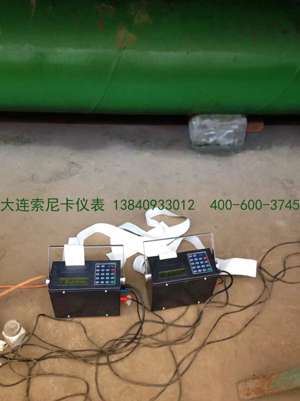 便携式超声波流量计测量现场